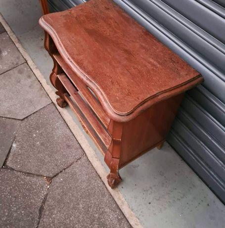 Stara mała szafka konsola komoda vintage drewniana