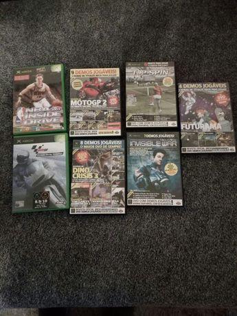 Jogos originais Xbox a primeira.Tenho demos está tudo impecável