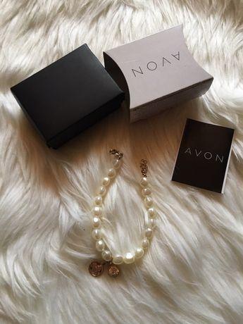 Nowa bransoletka perełki perły cyrkonia Avon prezent dzień kobiet