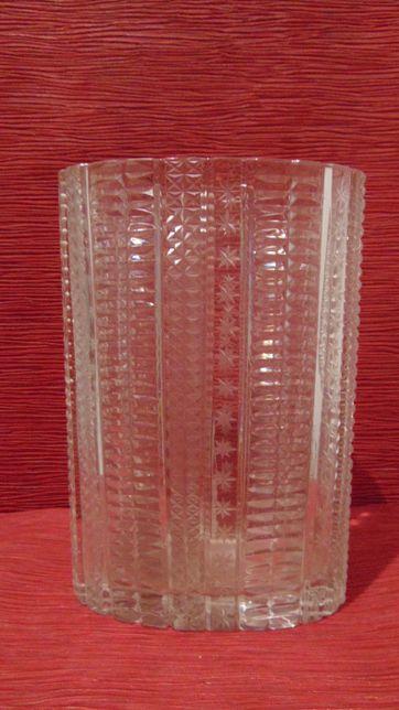 Piękny masywny wazon szklany - Huta Hortensja. Niesamowity.