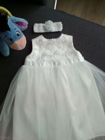 Платье платице нарядное белое крещения 62,68