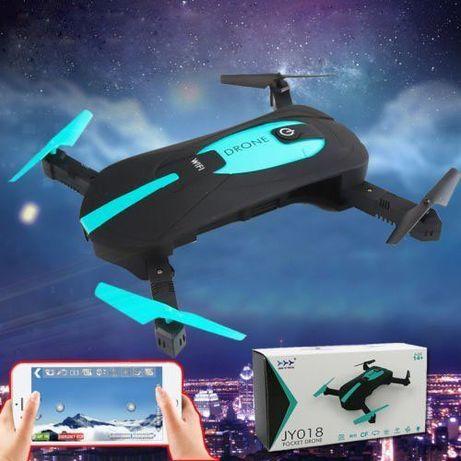 Selfie-drone WIFI dobrável com câmara de 2 MP + 2 baterias extras