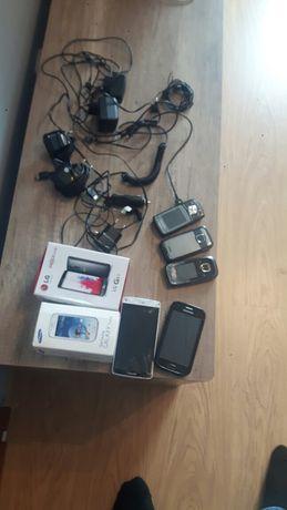 Telefony komórkowe ladowarki kable