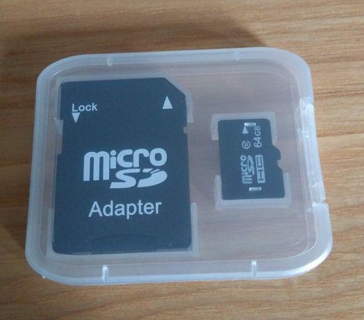 Karta pamięci microSD 64GB + adapter