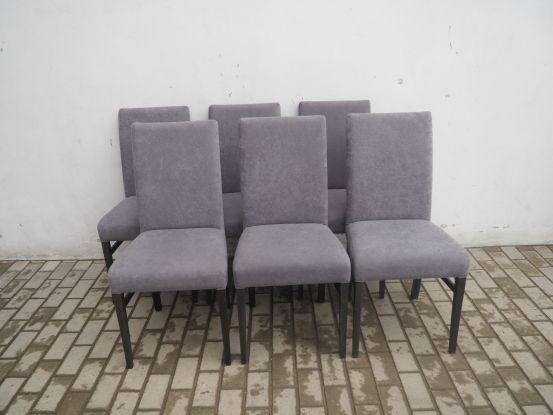 Stylowy komplet 6 krzeseł tapicerowanych 831