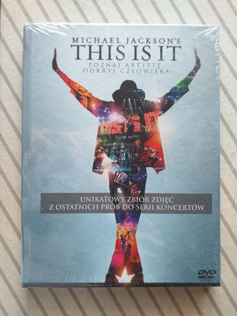 THIS IS IT Michael Jackson książka + film DVD