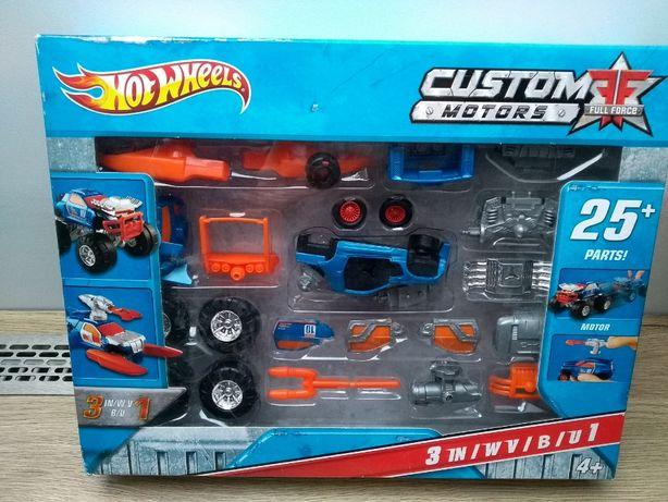 Hot Weels Custom Motors Mieszaj i składaj pojazdy Wiek 4+