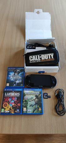 PS Vita konsola Sony. 4 gry, pokrowiec, karta 16 GB
