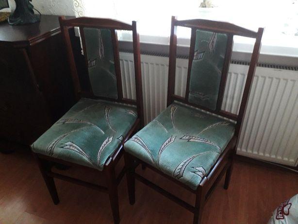 krzesła polskie do salonu pokoju 6 sztuk