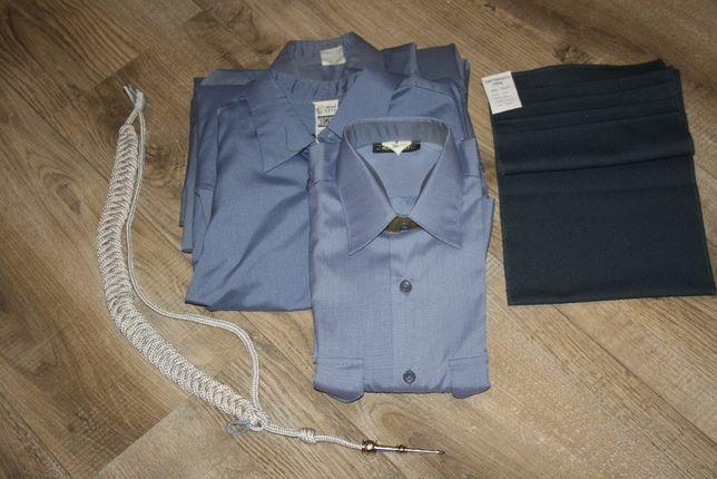 Koszule służbowe SW, krótki i długi rękaw, szalik, Służba Więzienna