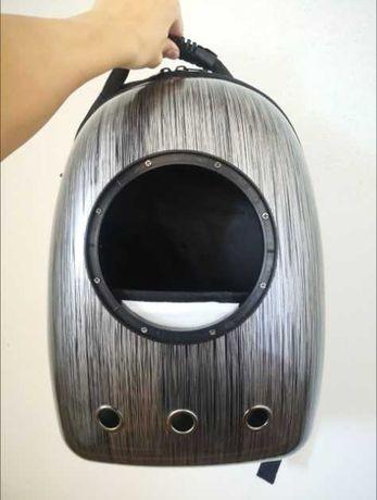 Рюкзак переноска с иллюминатором для животных черный