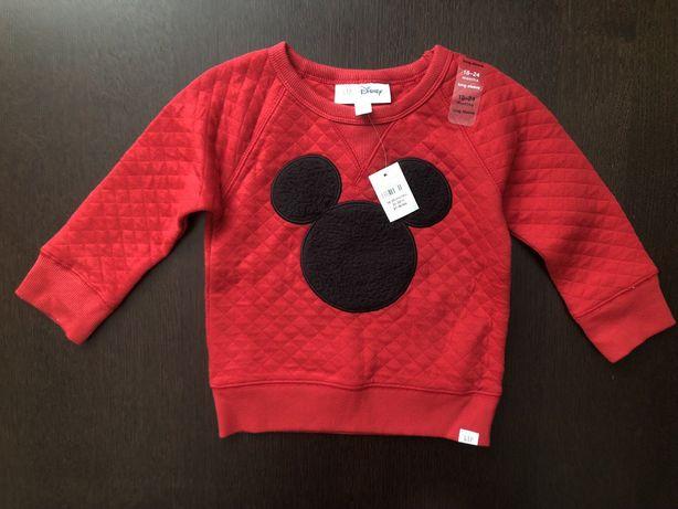 Реглан теплый для мальчика свитер реглан Микки Маус Gap, 18-24, 2 года