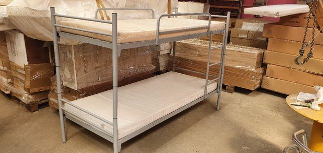 Łóżko piętrowe pracownicze metalowe wojskowe R2 BRUTTO SOLIDNE 90x200