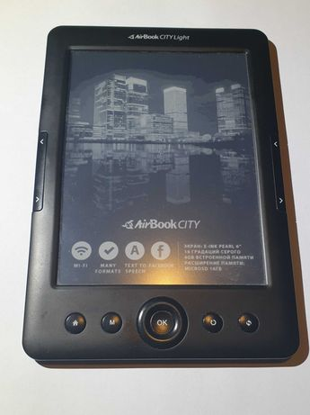 "Электронная книга AirBook City Light HD Black 6"""