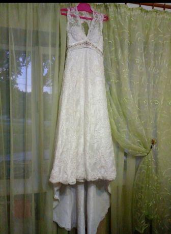 Срочно!Эксклюзивное свадебное платье размер S