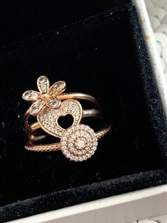 Pandora rose pierscionki 100% oryginal