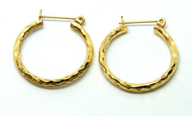 Kolczyki złote 585 waga 1,96g średnica 24mm Lombard Tarnów