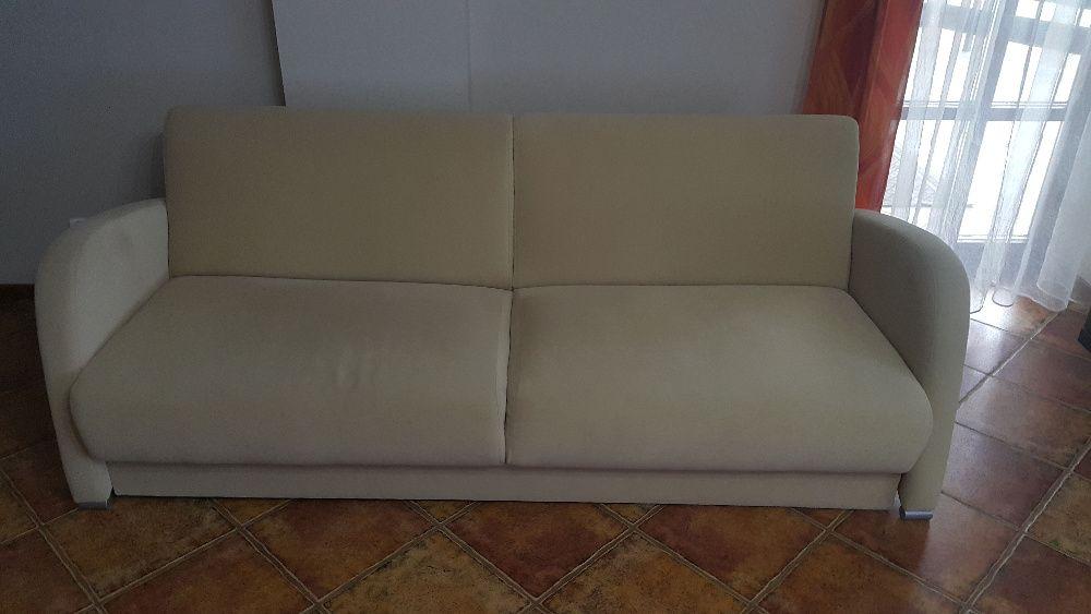 Kanapa, sofa, wersalka rozkładana - pojemnik na pościel - alcantara