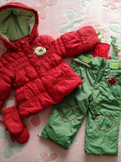 Kurtka zimowa, spodnie narciarskie, kombinezon jak nowy