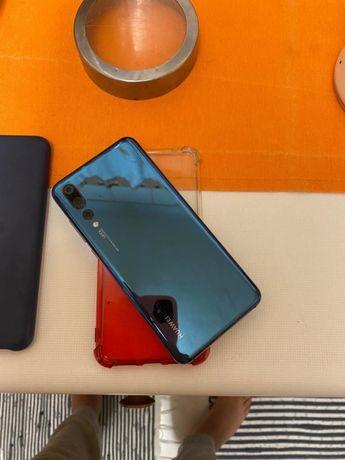 Huawei P20 Pro 128 GB (Dual Sim)-  Azul cromado + oferta 4 capas