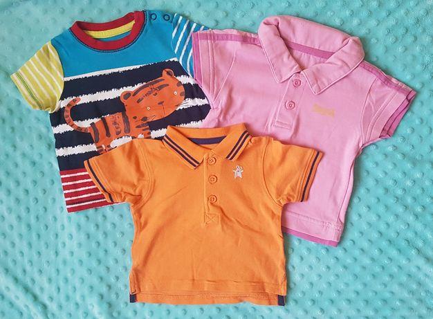 Bluzeczki tshirt koszulki  letnie chłopięce 68