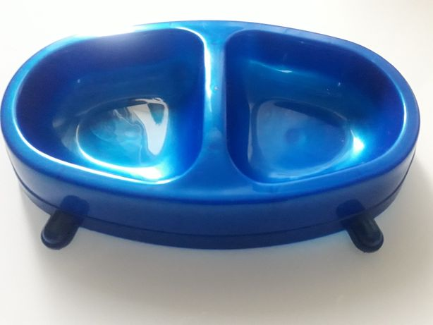 Sum-Plast - Miska dwukomorowa dla psów i kotów 0,3L