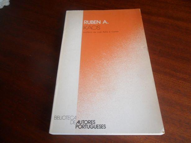 """""""Kaos"""" de Ruben A. - 1ª Edição de 1981"""