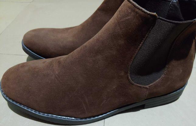 ботинки челси Primark 45р. 29см искуственная замша