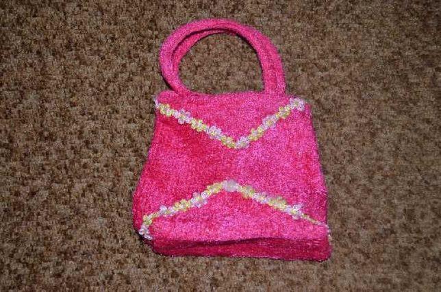 Детская сумочка Новая Высота 13 см. Ширина до 15см. Розовая Новый год