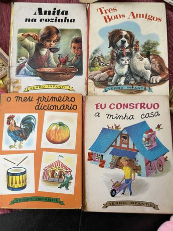Conjunto de 4 Livros Antigos Coleção Verbo Infantil + 2 d Oferta