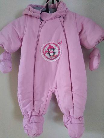 Kombinezon niemowlęcy różowy 62