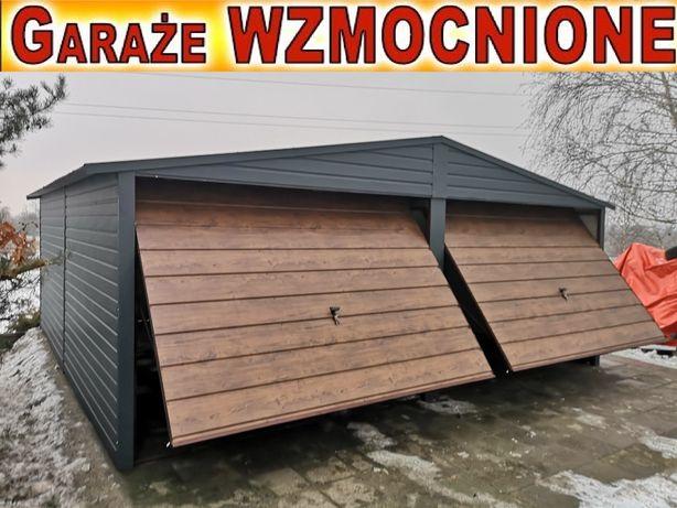 Garaże blaszane dwuspadowe 6x5, orzech , garaż blaszany,PRODUCENT