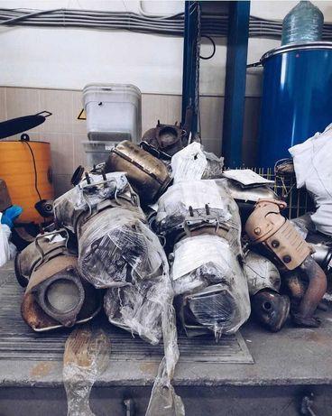 Викуп б/у каталізаторів продати прийом сажевих фільтрів здати