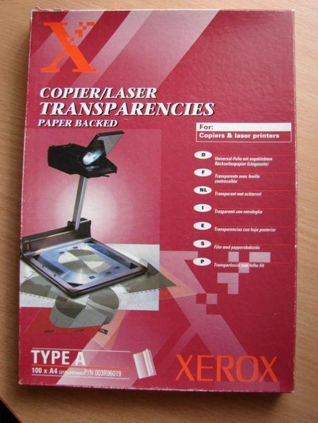 Пленка прозрачная А4 Xerox Transparencies с бумажной подложкой