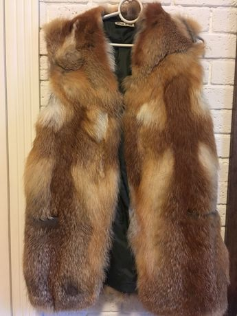 Натуральная жилетка лисы