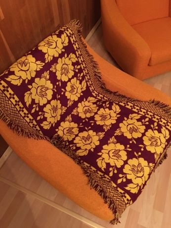 2 x Narzuta na fotele + na wersalke /lozko Welniane recznie tkane