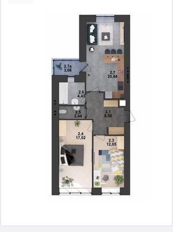 Продам двох 2 ох. кім. квартиру 74м2 в новобудові в центрі Стрия