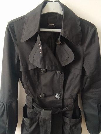 PŁASZCZ czarny trencz 36-38 S-M Vero Moda