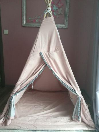 Tipi duże XXL namiot różowo szary dla dziewczynki