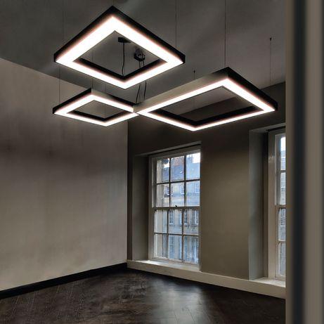 Geometric LED Kwadrat duży 51W 4000K szara