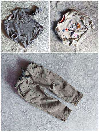 3 sztuki zestaw 92 Zara spodnie bluzka, bluza 5.10.15
