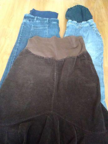 Ubrania ciążowe, QBA (polski produkt),spodnie, spódnica, rozmiar 42-44
