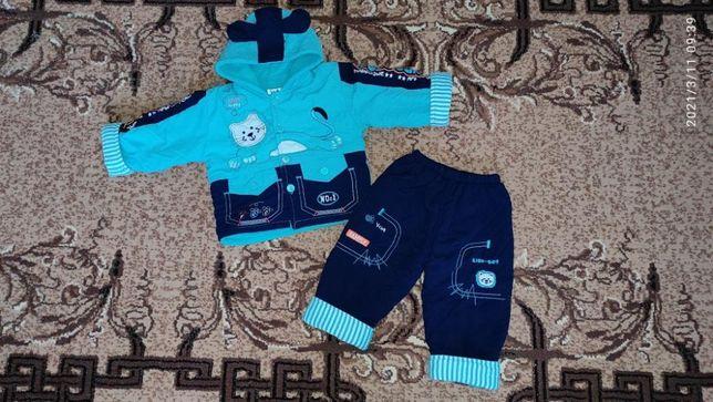 Костюм на мальчика (куртка и штаны) 1-2 года