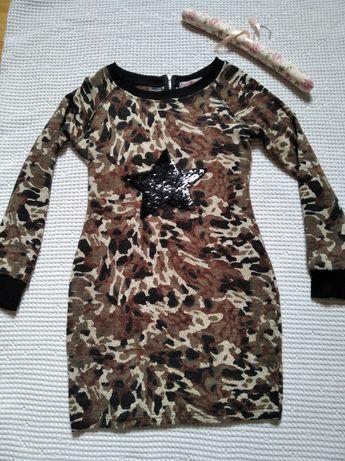 Boohoo sukienka M/L militarna