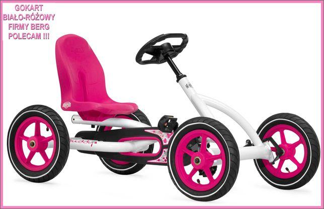Gokart BERG Buddy biało-różowy holenderskiej firmy BERG Toys