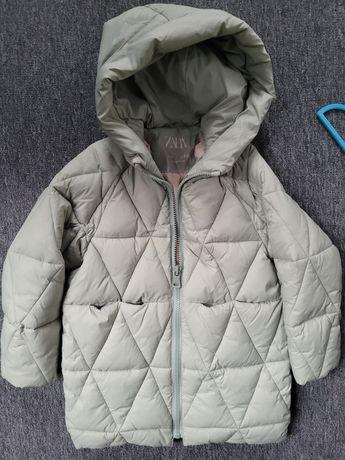 Zimowa kurtka Zara dla dziewczynki rozm.128