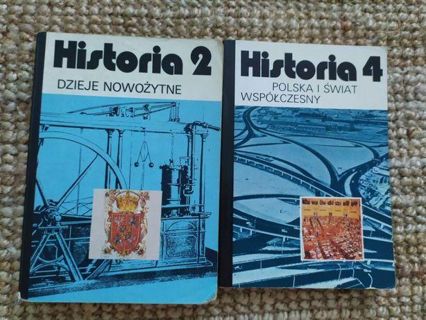 Podręczniki historia 2 i 4 dzieje nowożytne,Polska i świat współczesny