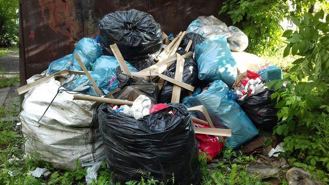Wywóz śmieci odpadów styropian papa