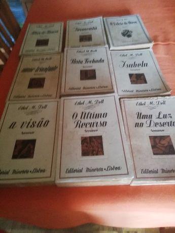 Nove livros de Ethel M. Dell da Editorial Minerva