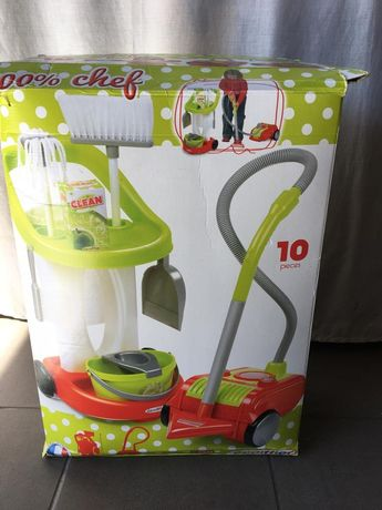 Carrinho limpeza + aspirador criança